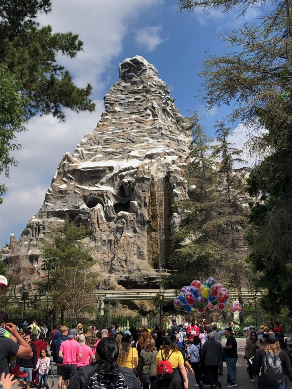 The Matterhorn Mountain was the site of an activity that educated the students on the importance of advertising.