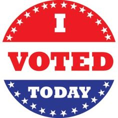 The sticker given out after voting for election week.