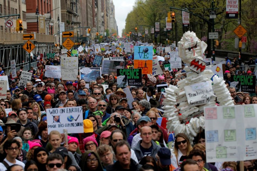 Protestors took to the streets for the Science March on Earth Day.