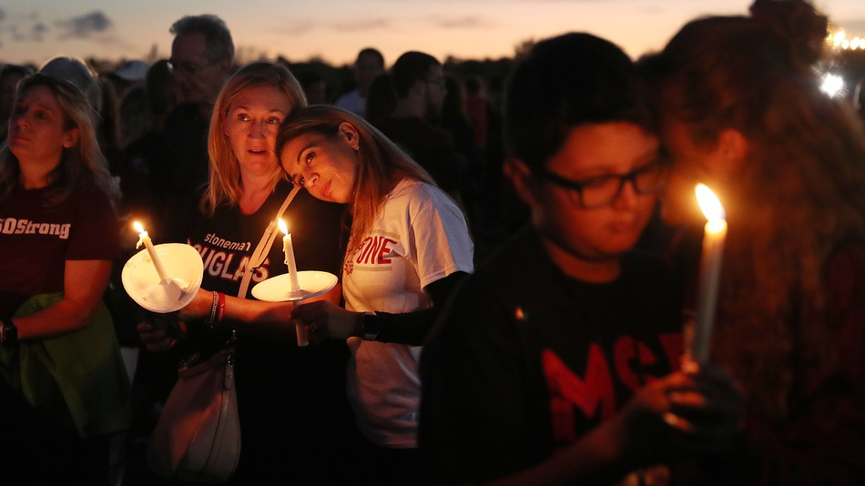 Parkland residents attended a 1 year anniversary vigil to commemorate those lost in the 2018 shooting and mourn the deaths of the two young teens lost during a year later.