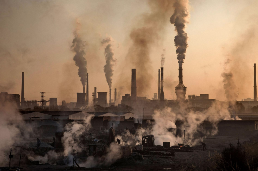 Factories are releasing toxic air pollution into the air.