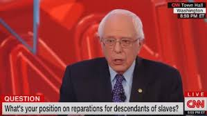 Bernie Sanders Discussing Slavery Reparations(photo courtesy of Ebony)