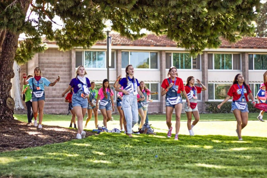 ASB students show their Mustang Pride at OCL, a leadership camp at UCSB.