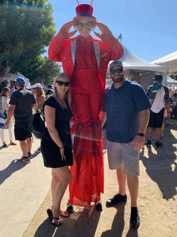 Mr. and Mrs. Domen at Lobster Fest in Long Beach. Mr. Domen is one of the newest teachers here on campus.