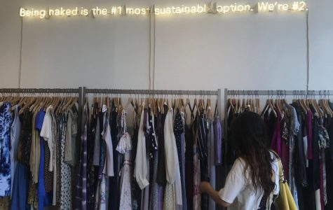 Picture of the Reformation Vintage store in Los Angeles, California, one of the many sustainable fashion brands.