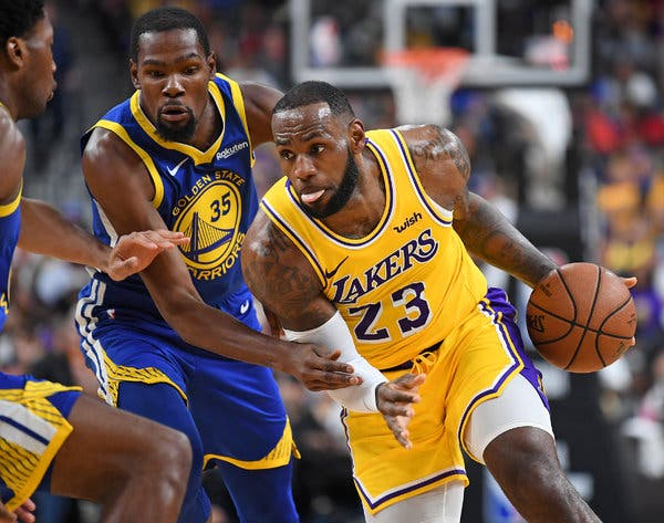 The Lakers' LeBron James (right) in action against Warriors' Kevin Durant (left). LeBron James has one of the most stunning backstories from a childhood of poverty to nationwide success.