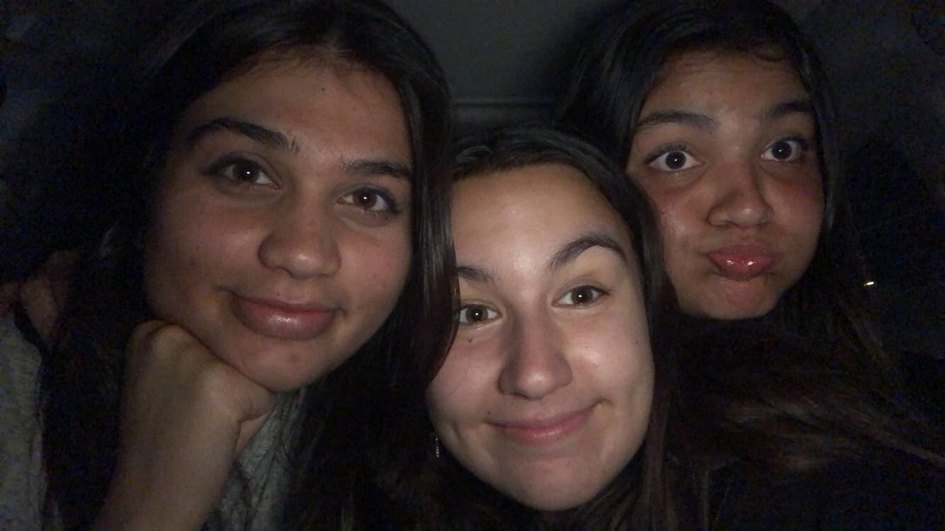 This is a picture of me, Gabby McCutchan, and Falak Khan who is an 8th grader at Travis Ranch Middle School. She was at the school when the incident happened and is one of the many young students who can be deeply influenced by the situation that is happening in our society today with drug culture.
