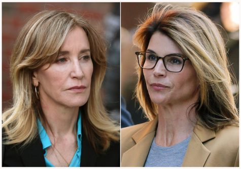 Both are part of the college admission scandals, Felicity Huffman being on the left and Lori Loughlin on the right.