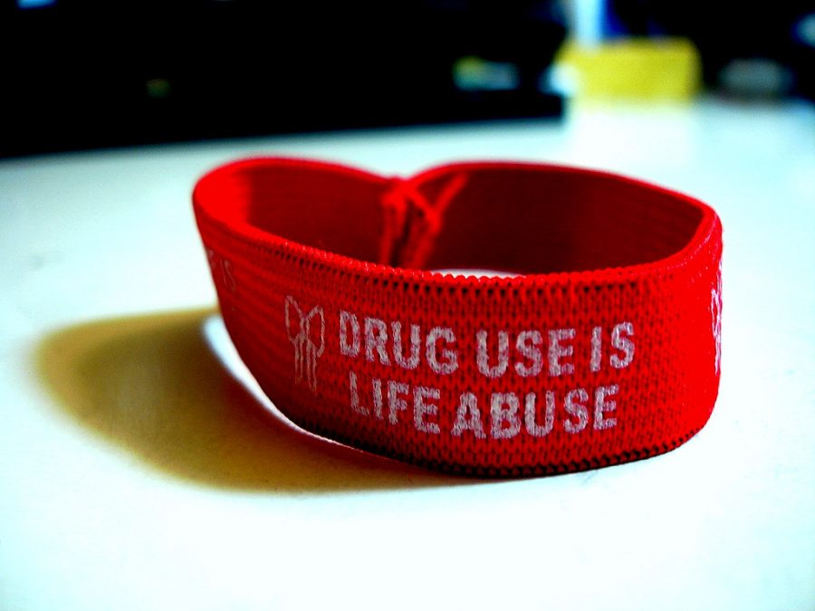 These are the wristbands typically passed out during Red Ribbon Week to serve as a constant reminder and spread awareness.
