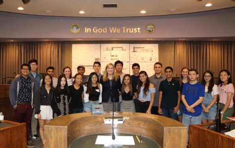 2019 Fall Session Young Civic Leaders visit the town center.