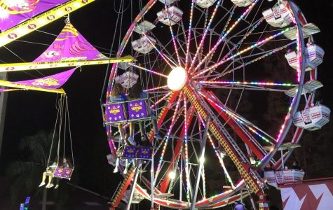 One of the most popular rides at the Oktoberfest is the iconic ferris wheel.