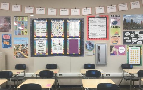 A Spanish classroom at YLHS where students are learning their second languages