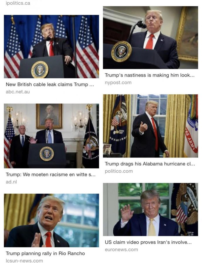 President Donald J. Trump's pictures from speaking conferences.