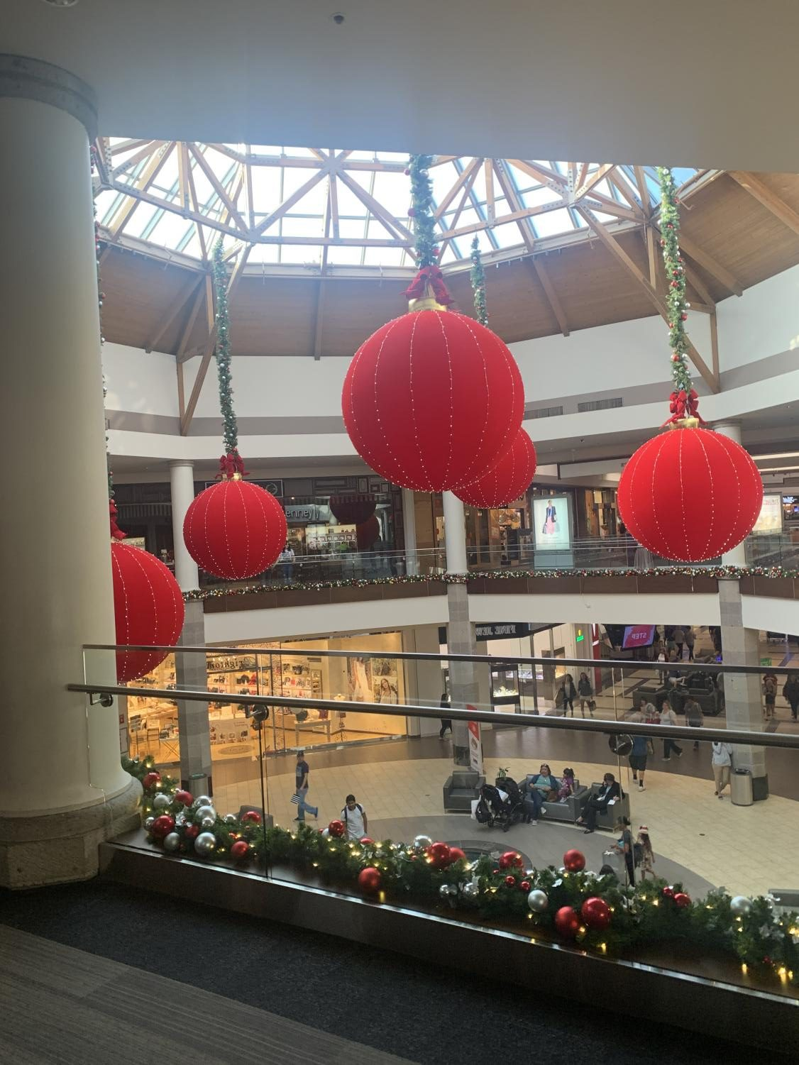 Brea Mall during November, proving the rush to get to Christmas.