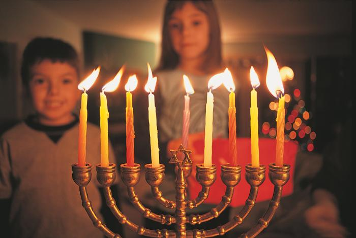The branched menorah is a historical symbol of Hanukkah