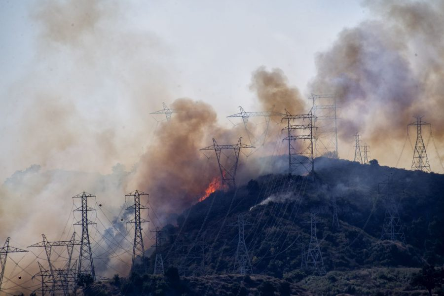 Overhead electric transmission systems have caused various wildfires in regions such as Southern California, and is reportedly becoming more frequent with climate change.