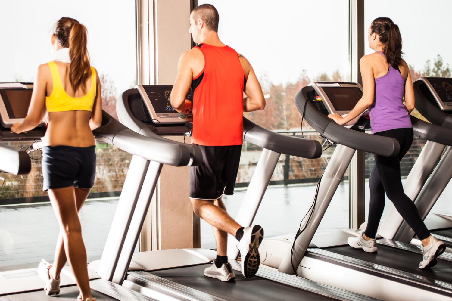 Going to the gym creates a pattern in one's daily routine, creating a healthy habit.