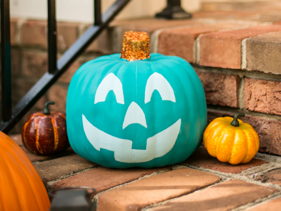 Teal pumpkins are used to welcome children with food allergies to trick-or-treat.