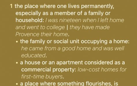The meaning of home as defined by The Webster's Dictionary .