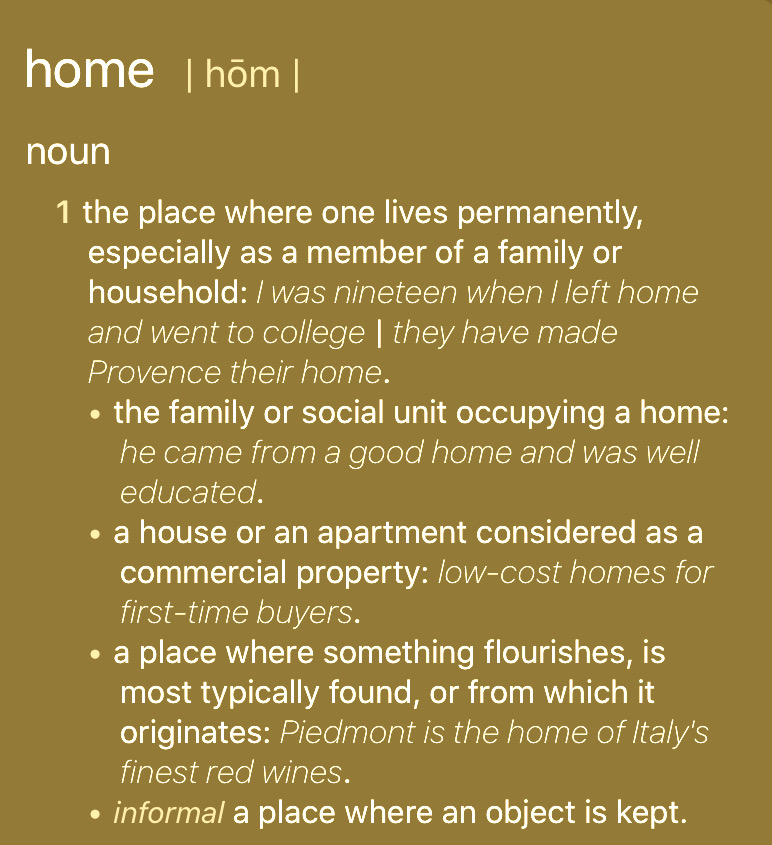 The+meaning+of+home+as+defined+by+The+Webster%27s+Dictionary+.+