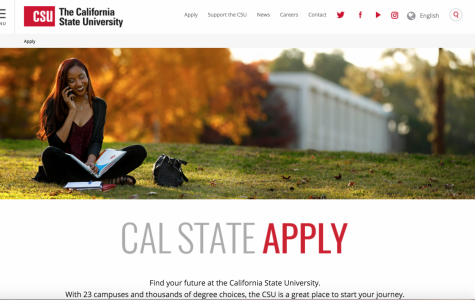 This is the picture of the Cal State website that you see when you apply to its colleges.