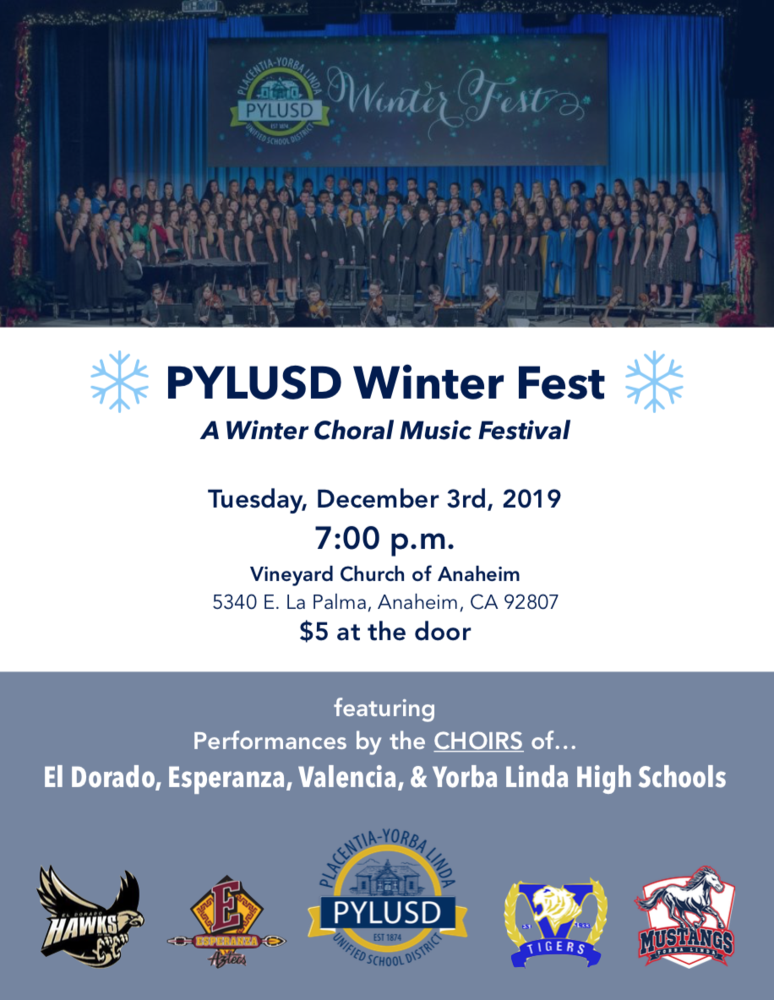 The PYLUSD Winter Fest occurred on December 3 and featured amazing programs from several schools.