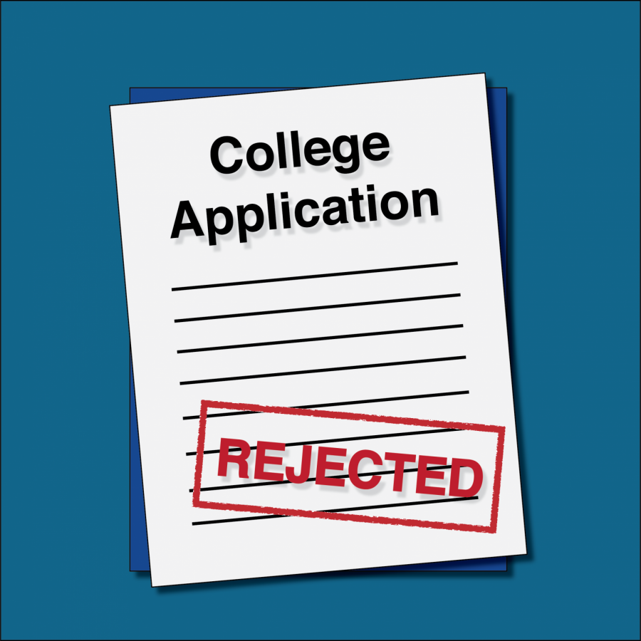 It's not easy to handle being rejected from college, but it's inevitable for many students.
