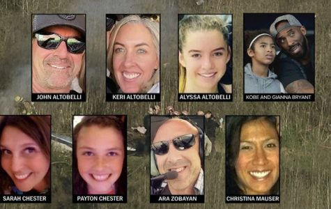 The devastating helicopter crash on January 26 took the lives of the nine victims who are pictured.