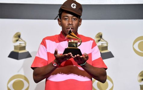 """Tyler The Creator, a rapper who criticized the Grammy's for its racist selection process in its """"urban"""" category."""