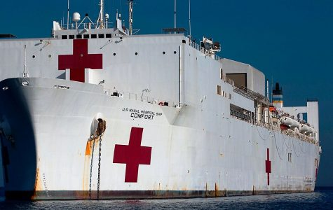 USNS Comfort docks on the shores of New York to provide a helping hand for struggling hospitals.