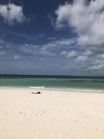 A picture of one of the many beaches in the world that are being closed down right now for the safety of others.