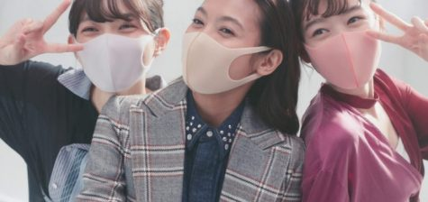 An example of 3 Asian girls wearing face masks. Compared to America, it is obvious how much of a fashion statement masks are in this picture.