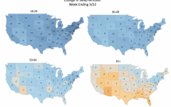 The pandemic's impact on sleep is not limited to California; the image shows that sleeping schedules are changing drastically across the nation.