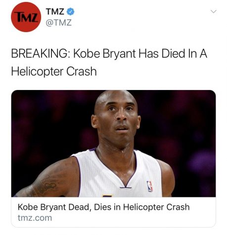 Kobe Bryant's death was published by TMZ minutes after the helicopter crash, causing many to question the ethics of such rapid reporting.