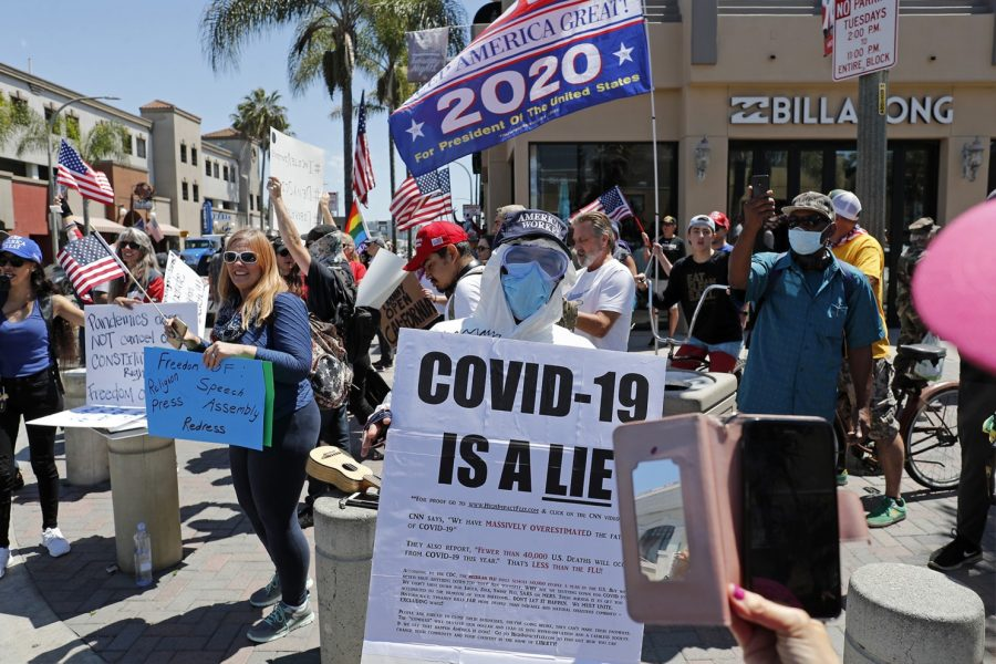 Protests against the coronavirus in Huntington Beach reveal the priorities of some individuals during this critical, unprecedented time.