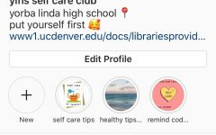 YLHS Self Care Clubs main instagram that will be used to promote self care throughout the student body.