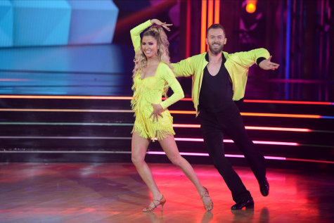 Kaitlyn Bristowe and Artem Chigvintsev deliver their technical cha cha in corresponding neon.