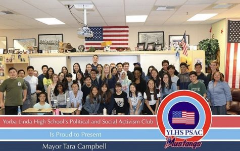 Students of the Political and Social Activism Club meeting with former mayor of Yorba Linda, Tara Campbell!