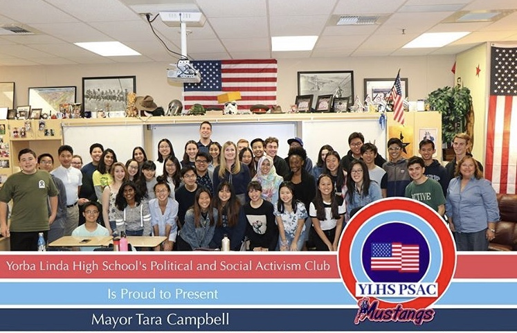 Students+of+the+Political+and+Social+Activism+Club+meeting+with+former+mayor+of+Yorba+Linda%2C+Tara+Campbell%21
