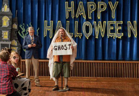 "Adam Sandler stars in his new film ""Hubie Halloween"" on Netflix."