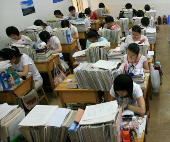 Students in China diligently study for the infamously difficult gaokao exam.