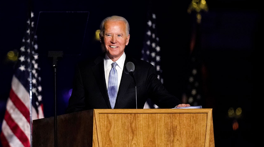 Shortly after receiving the news of his presidential victory, Joe Biden addressed the nation in his hometown of Wilmington, Delaware, explaining his intentions for the next four years to come.