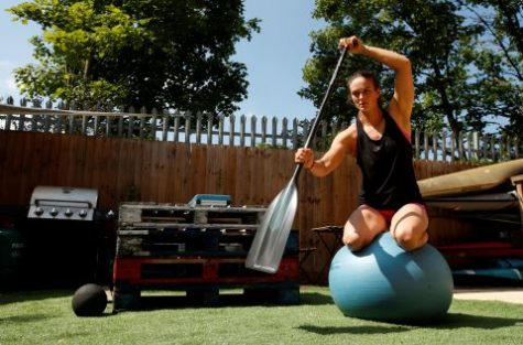 Athletes learned to adapt to these uncertain times by implementing ways to train at home. Some athletes use different materials around their houses to imitate their sport.