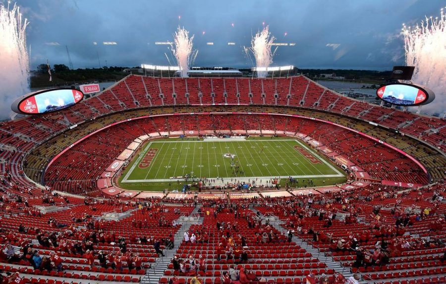 The+Kansas+City+Chiefs+prepare+to+play+their+first+game+of+the+season+at+Arrowhead+Stadium%2C+with+a+limited+number+of+fans+allowed+with+social+distancing+and+masks+required.+
