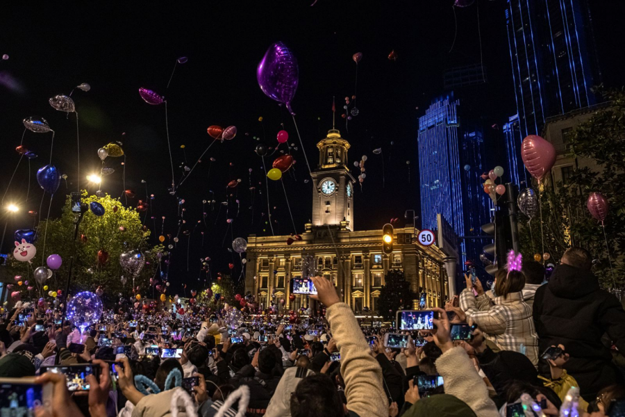 Thousands of people in Wuhan, China gather to celebrate New Years. Although Wuhan was the first place where COVID-19 was found, they were successfully able to handle the virus, leading to a relatively normal celebration of New Years.