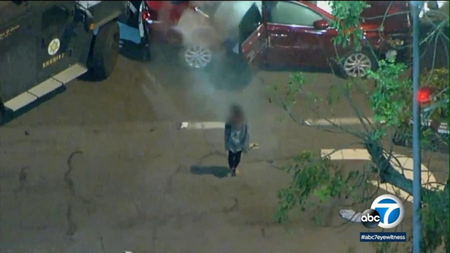 A 9-year-old girl emerged after tear gas was thrown into the vehicle.