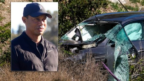 On a way to a shoot Tiger  Woods Car veers off of road resulting in fatal injuries.