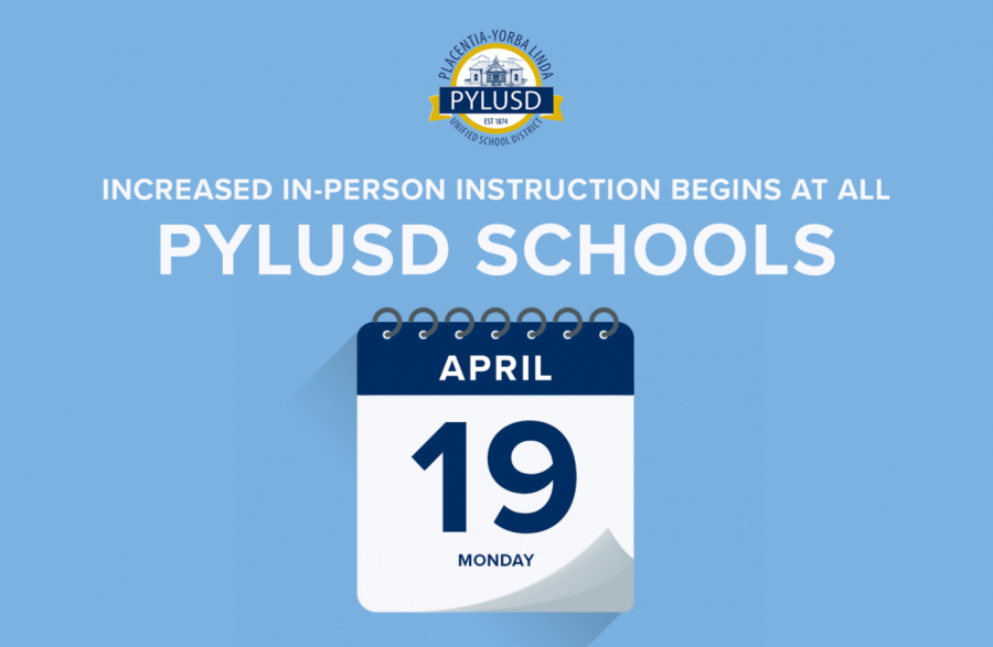 PYLUSD announced the increase in in-person learning for the rest of the school year.