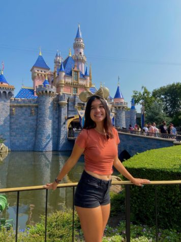 """Sleeping Beauty's Castle, iconic Mickey Ear's and the magical experience Ava has when she spends her time here makes her feel as if """"all {[her}] problems go away for a few hours""""."""