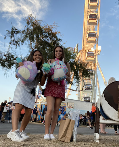 Two Yorba Linda High School students attend OC Fair, a popular event many students attend. OC Fair was closed in 2020, but it reopened in the summer of 2021.